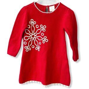Hanna Andersson | Knit Snowflake Dress (3) ❤️❄️❤️